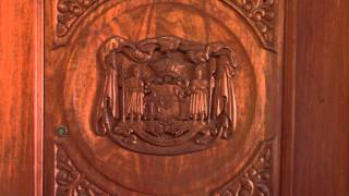 Wood Carving In Door From Hawaii