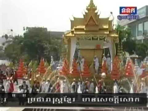 TVK 2-2-2013-Cambodian People Feeling on Funeral Procession for King Father Norodom Sihanouk