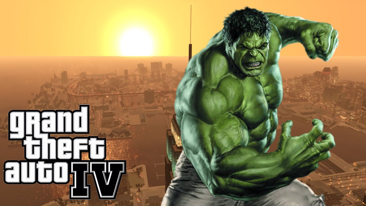 Incrivel Hulck Ideal gta 4 - mods - o incrível hulk! insano! - youtube
