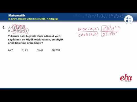 2016-2017 1. Dönem TEOG Matematik Soru ve Cevapları