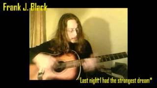last night i had the strangest dream simon garfunkel cover by frank j black