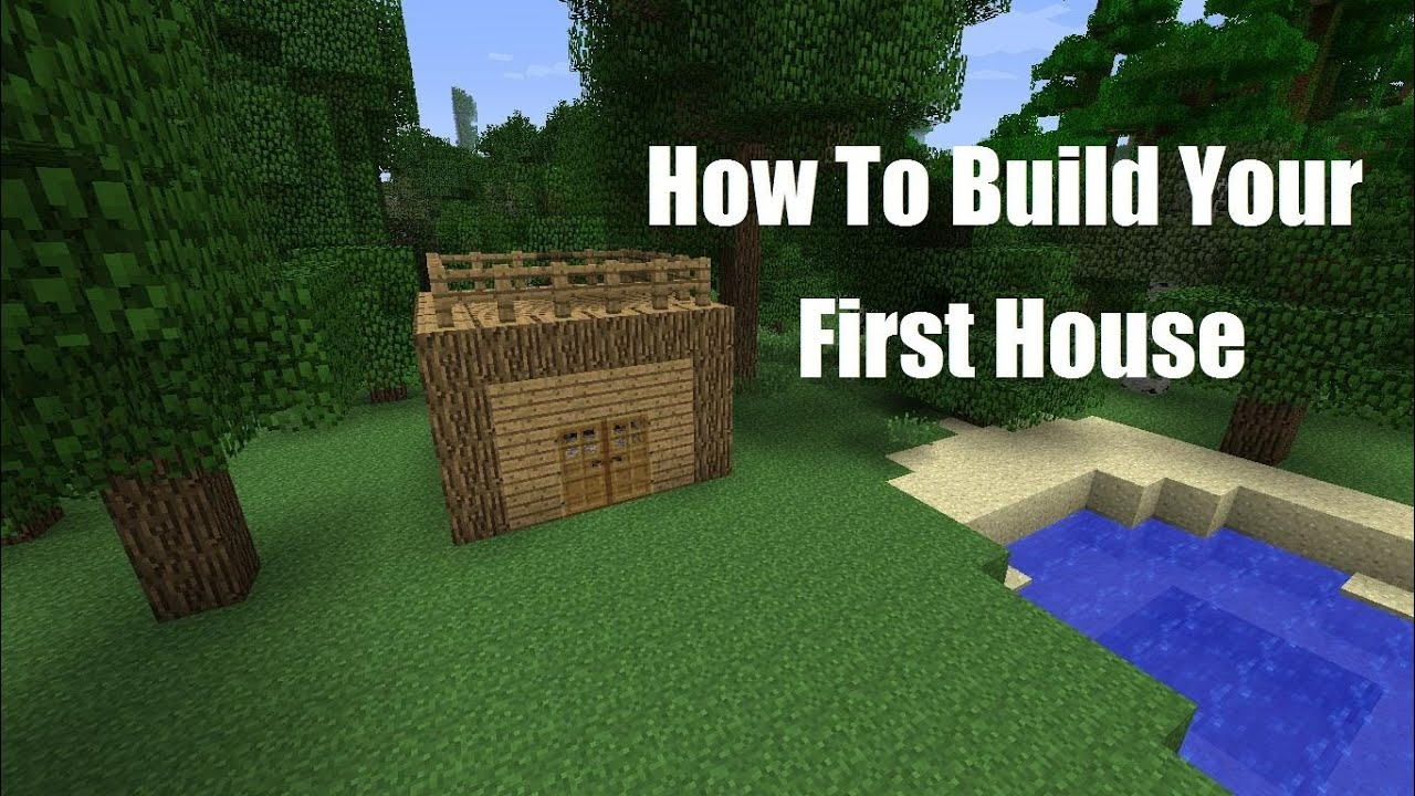 Minecraft how to build your first house spoof youtube for Build your home