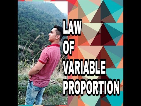 (unit-3) LAW OF VARIABLE PROPORTION(video no 27)