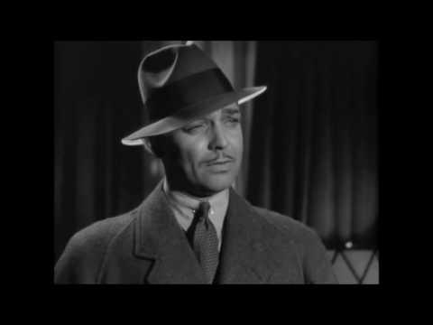 Clark Gable ,  Classic scene~   Manhattan Melodrama (1934)