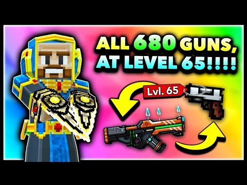 Using ALL WEAPONS MAX LEVEL In Pixel Gun 3D! Max Account Challenge! (Special)