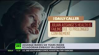 Arbitrary detention': Assange marks 6yrs inside Ecuadorian embassy in London