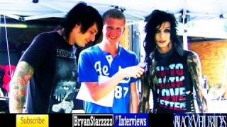 Black Veil Brides Interview #4 Andy Biersack & Matt Good UNCUT Warped Tour 2011