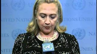 Secretary Clinton Discusses the Middle East Quartet Meeting