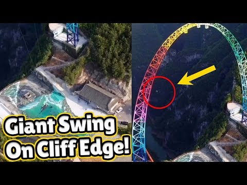 GIANT 700 metre swing that swings off a cliff edge | Largest Swing In The World