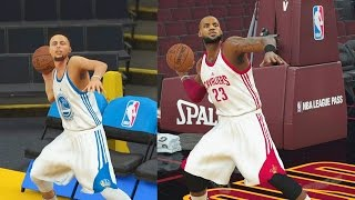 Who Can Make a Full Court Shot First in the NBA? Stephen Curry vs LeBron James! NBA 2K18 Gameplay