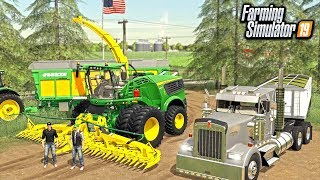 HELPING LOCAL FARMER IN NEED! SILAGE HARVEST (ROLEPLAY) | FARMING SIMULATOR 2019