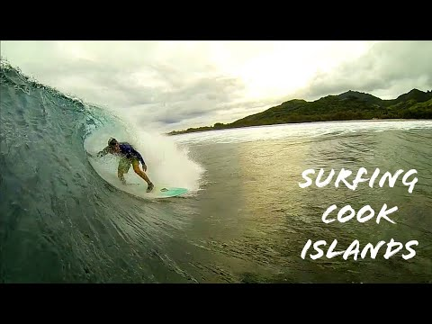 Surfing Rarotonga Raro Cook Islands - Rutaki - GoPro surf travel