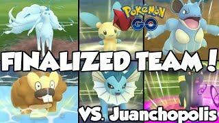 MY FINALIZED FEROCIOUS TEAM VS. JUANCHOPOLIS! Pokemon GO PvP Ferocious Cup Great League Matches