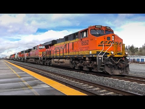 Eclectic Motive Power at Stanwood, WA 4K