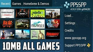 [10mb] Play all PsP Games In One App | Download Now for Free