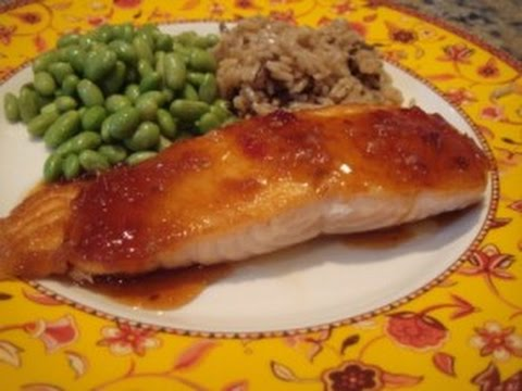 Chili-Garlic clove Glazed Salmon