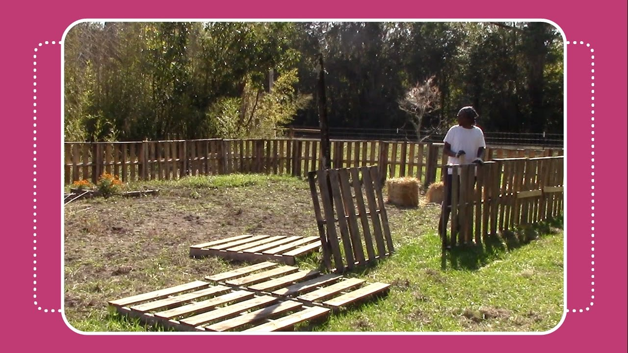 Make Garden Fence From Pallets Garden Ftempo