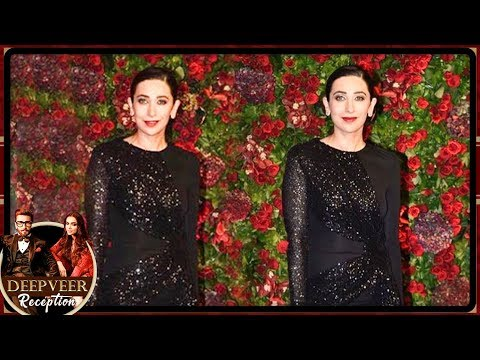 Karisma Kapoor RAVISHING Look At Deepika Ranveer Mumbai Reception Party 2018