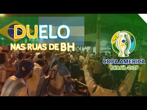 TORCIDA BRASILEIRA E ARGENTINA DUELAM NAS RUAS DE BH