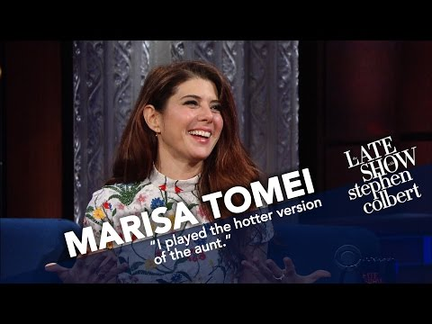 Marisa Tomei And Stephen Perform An 'All Lady Gaga Lyrics' Scene