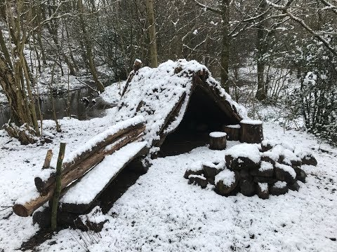 2 NIGHTS GROUND DWELLING CAMPING AND WAKING UP TO SNOW