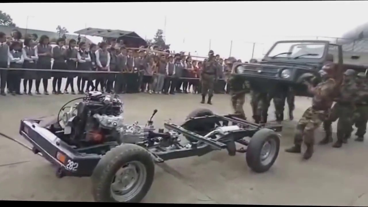 Indian Army   Disassembling And Reassembling Gypsy