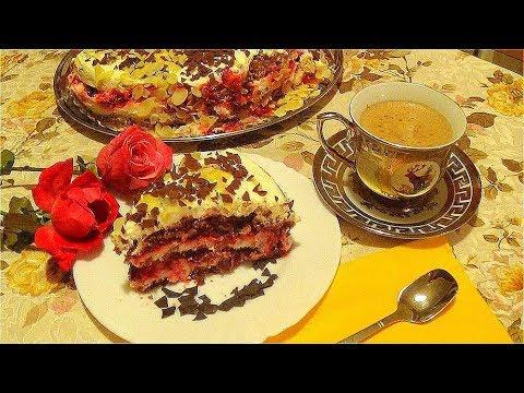 Шоколадный торт с вишней видео рецепт