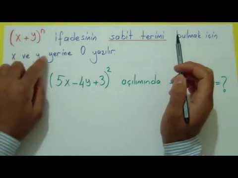 Binom Açılımı 1 Şenol Hoca Matematik