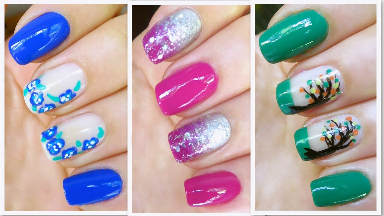 3 Cute Nail Art Designs for Fall/Winter - YouTube