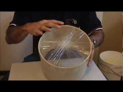 Homemade packing tape drum - Child