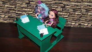 Как сделать парту для кукол.Стол для кукол.How to make a Desk for dolls(, 2014-10-23T19:08:08.000Z)