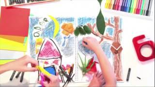 スケッチブック One Dayは、親子のコミュニケーションを促進する素材です。 子どもに声をかけながら、一緒に描いたり、塗ったり、切ったり、貼...
