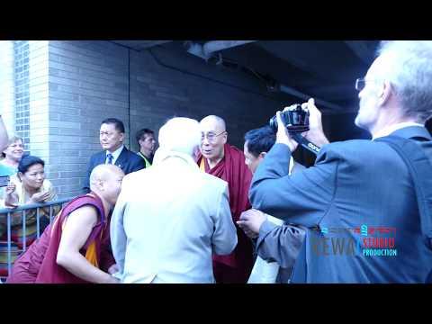Saturday June 24, 2017 His Holiness The 14th Dalai Lama is arriving at Boston