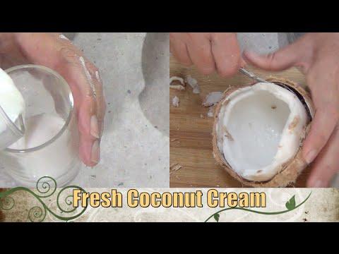 Fresh Coconut Cream from Scratch 1 ingredient cheekyricho Thermochef Video Recipe