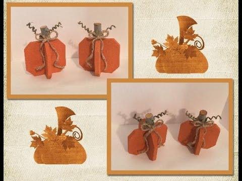 DIY Wood Pumpkins