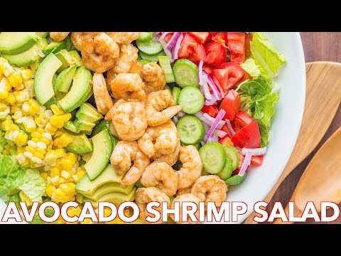 Salads: Avocado Shrimp Salad Recipe + Simple Cilantro Lemon Dressing