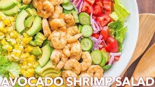 Easy Avocado Shrimp Salad Recipe + Simple Cilantro Lemon Dressing