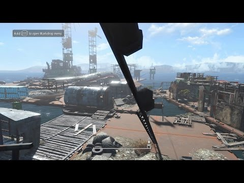 Fallout 4 Cool Barge Town Settlement Brand New Settle Added Commonwealth! PS4 Mod