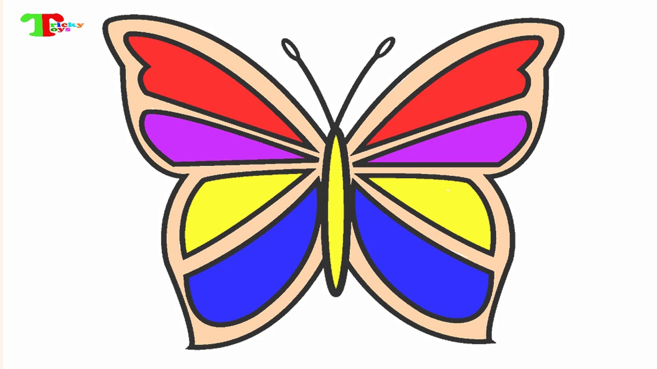 🌷💞 Draw Heart Flower Butterfly Coloring Page For Kids Teeth ...