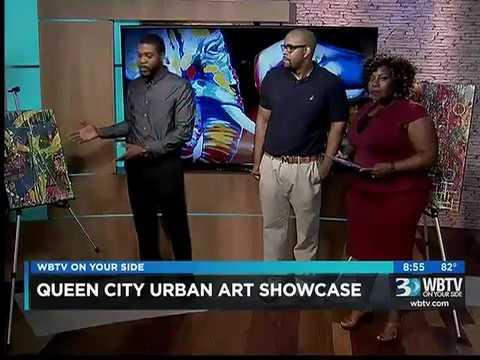 8/10/16 WBTV 3 News Queen City Urban Art Showcase