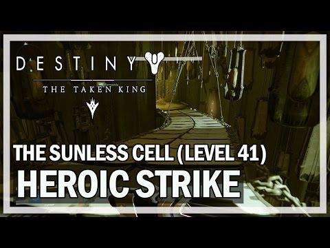 Destiny The Taken King Gameplay - Sunless Cell Heroic Strike (Level 41)
