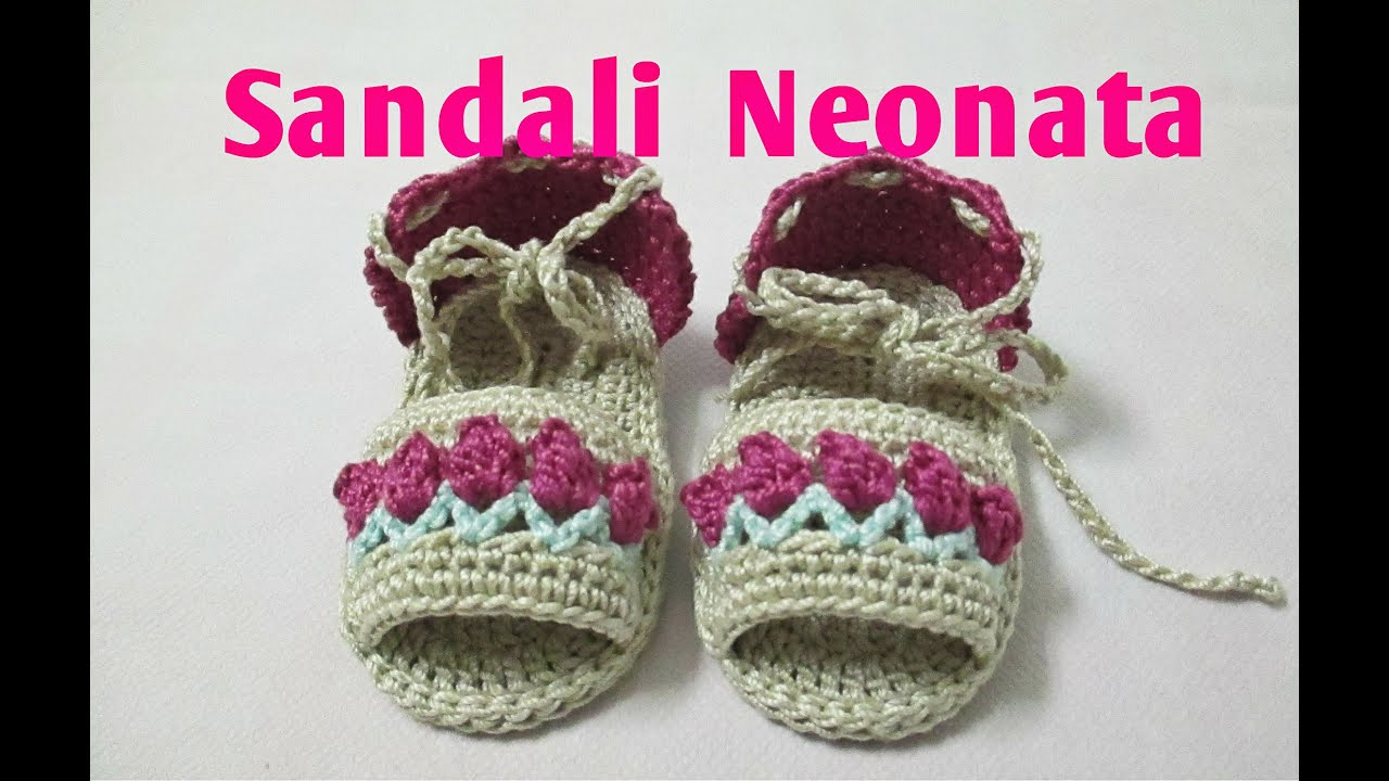 Sandali Neonata Uncinetto Tutorial 4 Youtube