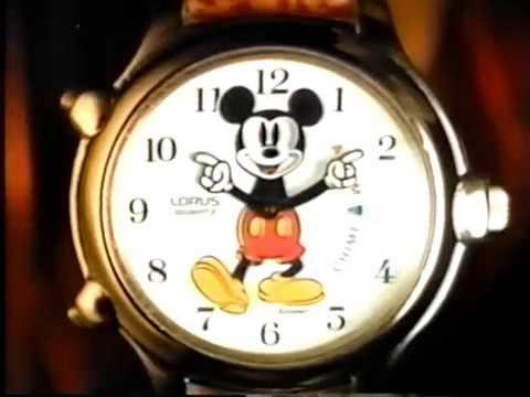 Lorus Mickey Motion timer TV Ad 1994