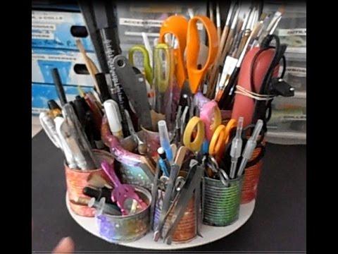 Craftroom faire un organiseur pour le bureau crayons - Organisateur de tiroir bureau ...