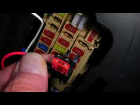hqdefault nissan juke fuse box drl kit wiring youtube connect wire to fuse box at readyjetset.co