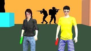NERF GUN GAME LEVEL 1 - TOY GUN DEATH MATCH
