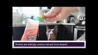 Dobertot: Doberman Product Review - Merrick's Cowboy Cookout Treats
