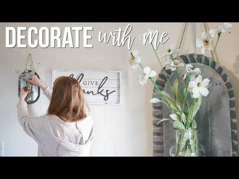 DECORATE WITH ME!! | FARMHOUSE STYLE DECORATING!