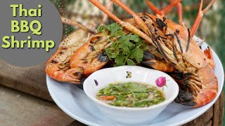 Thai Food,  Bbq Prawns, (shrimp)  Goong Yang Naam Jim