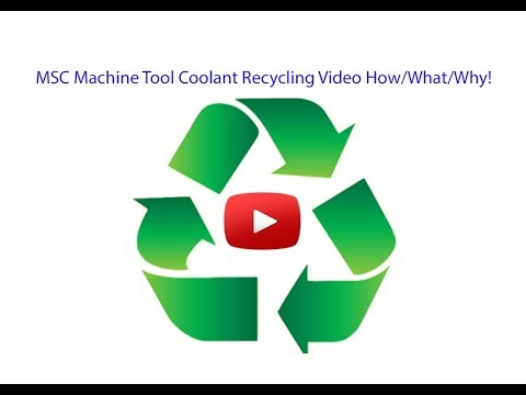 Machine Tool Coolant Recycling - 80-85% Reduction New Coolan